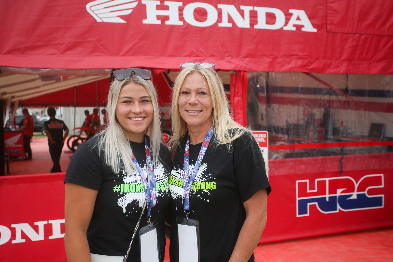 The recent passing of Scott Sheak was a tough one. We spotted his daughter, Brooke; and widow, Amy, visiting with some of the teams in the pits.