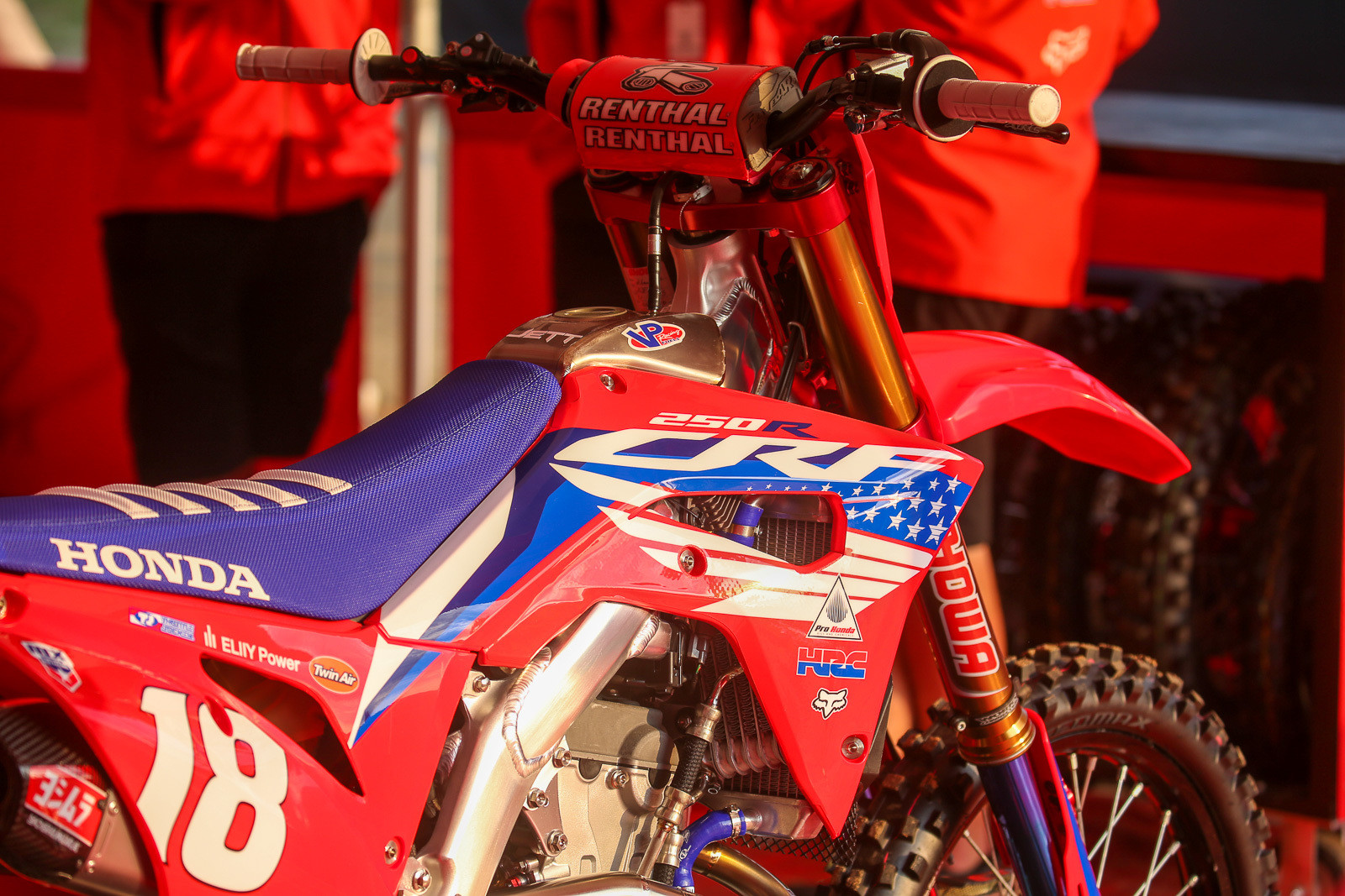 The red, white, and blue was out in force. Throttle Jockey did a nice job on this one for the Team Honda HRC boys.