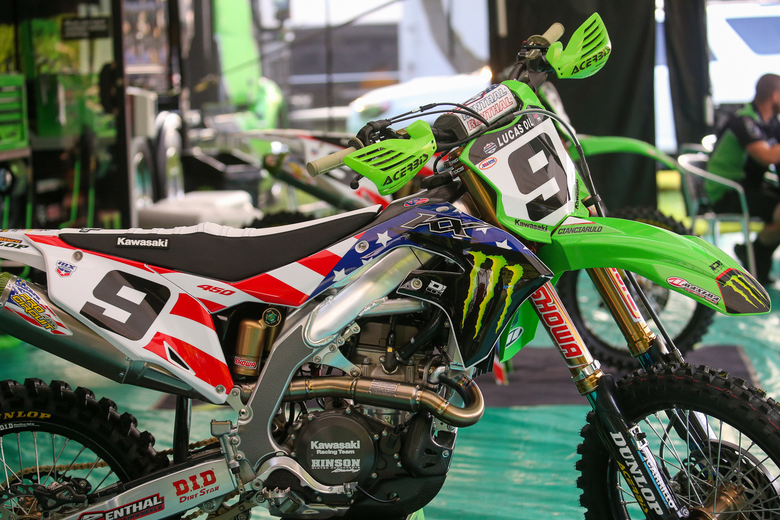D'cor's take on a Monster Energy Kawasaki fourth of July.