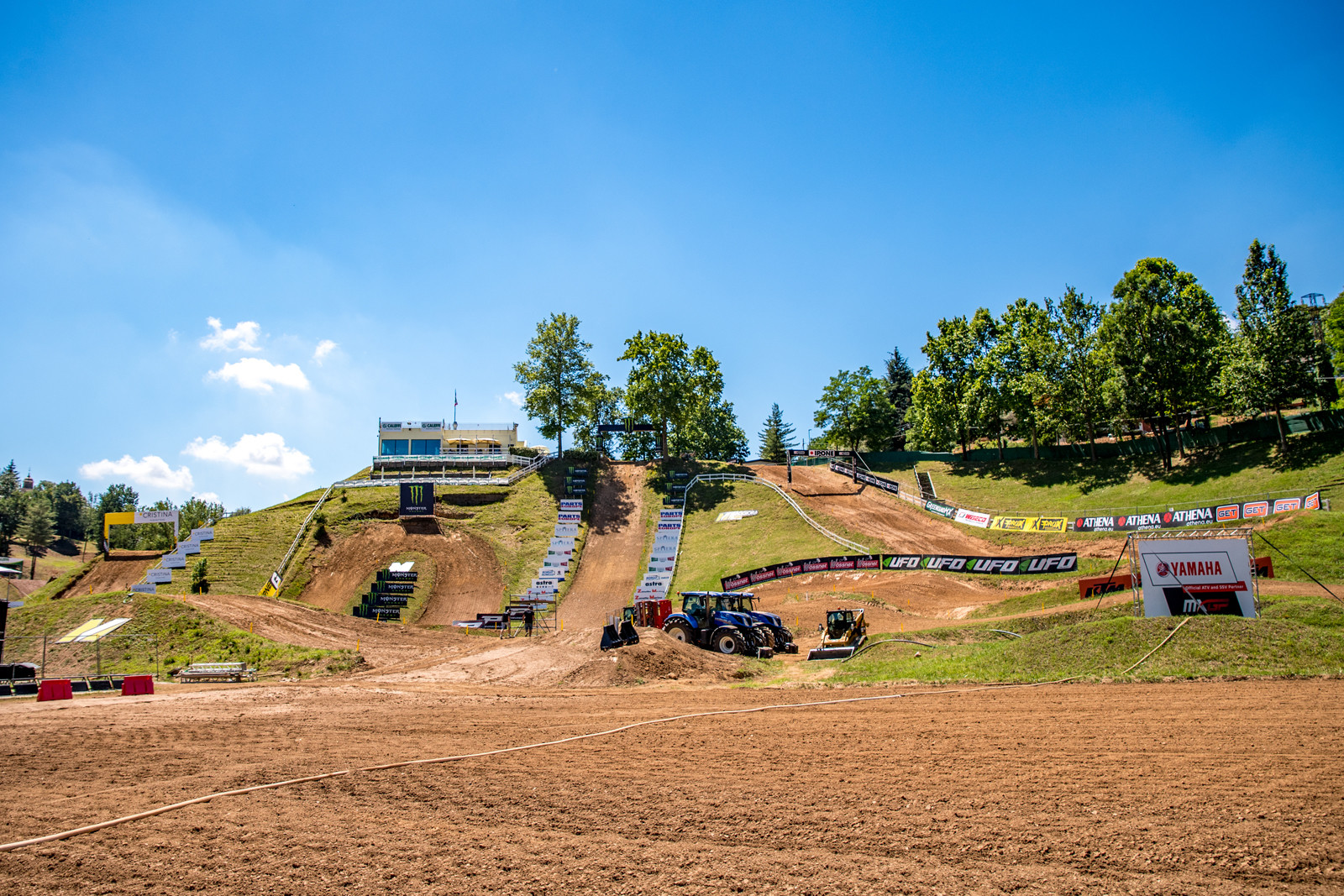 The Maggiora circuit is beautiful, but this photo was a few days before the race which saw some late moto rain.
