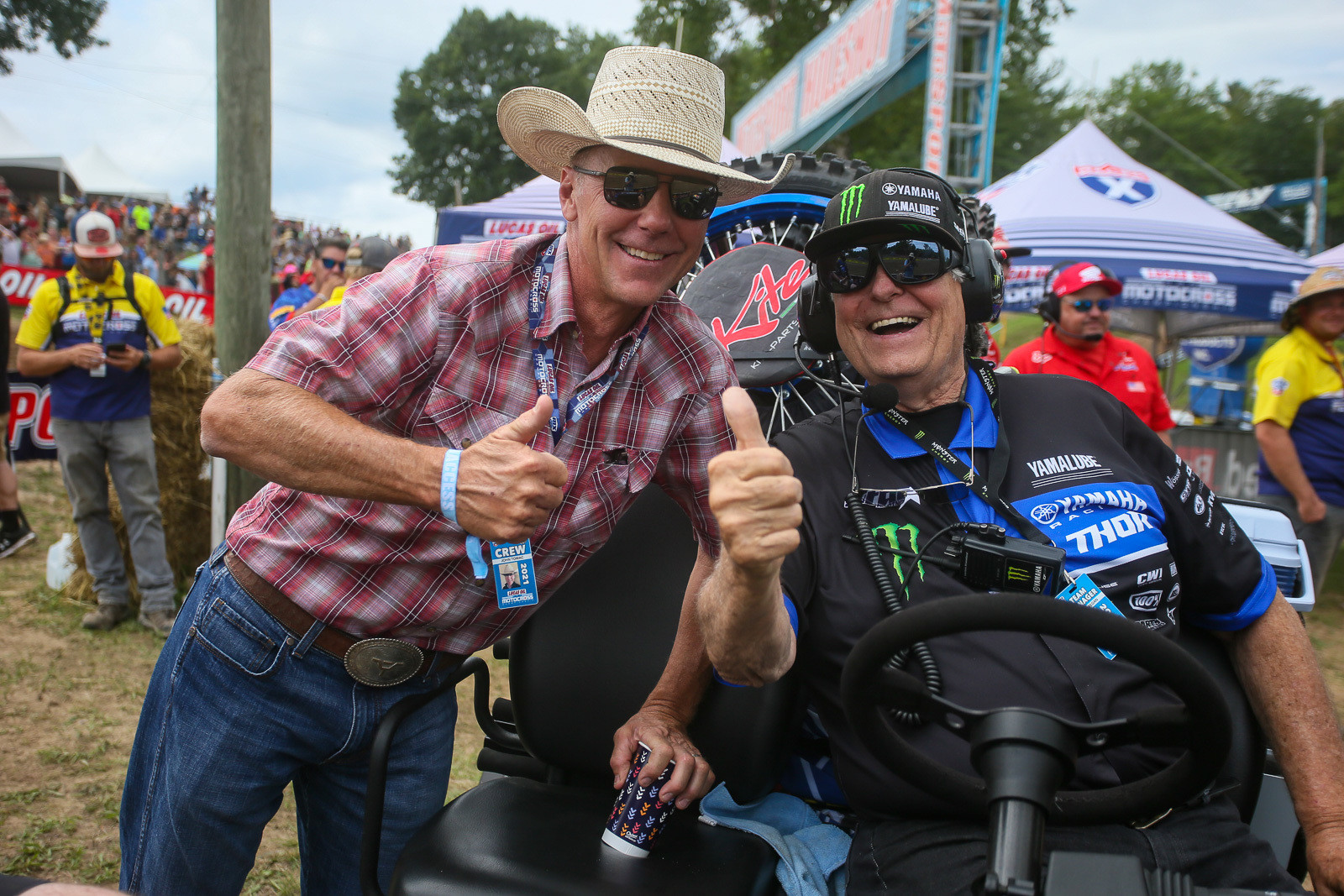 These two (John Tomac and Bobby Regan) seemed awfully happy to be at Southwick.