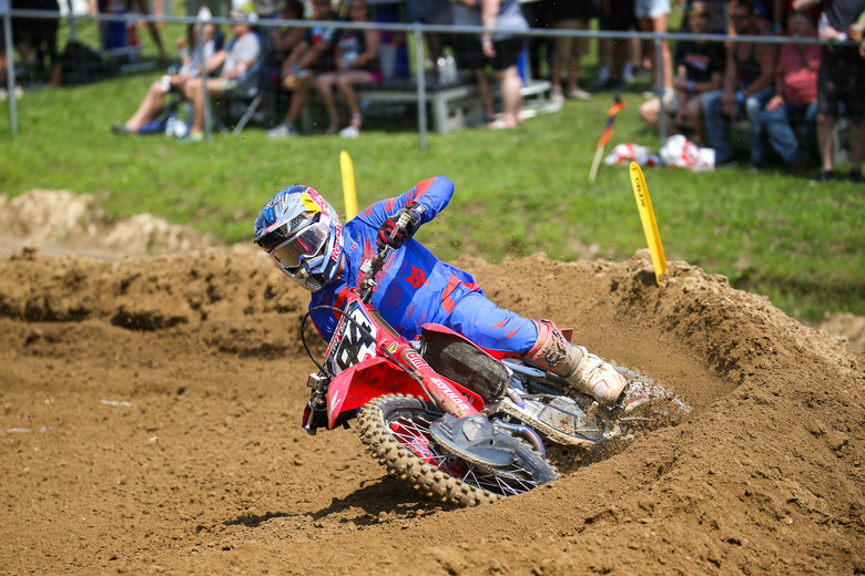 Ken Roczen had a horrible first moto due to a first turn crash, but he would not be denied the win in the second moto.