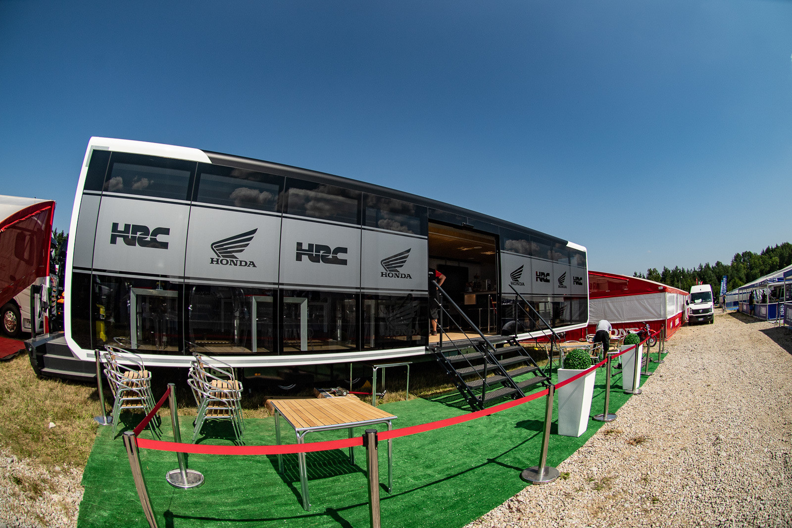 Ah yes, they do things a bit differently in the GPs. For example, this HRC hospitality setup.