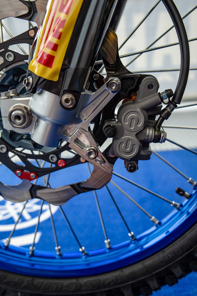 How about some up close and personal time with Jeremy Seewer's Yamaha? Apparently Jeremy likes a lot of front brake.