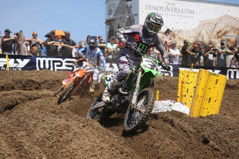 Eli Tomac was practically invisible the entire day.