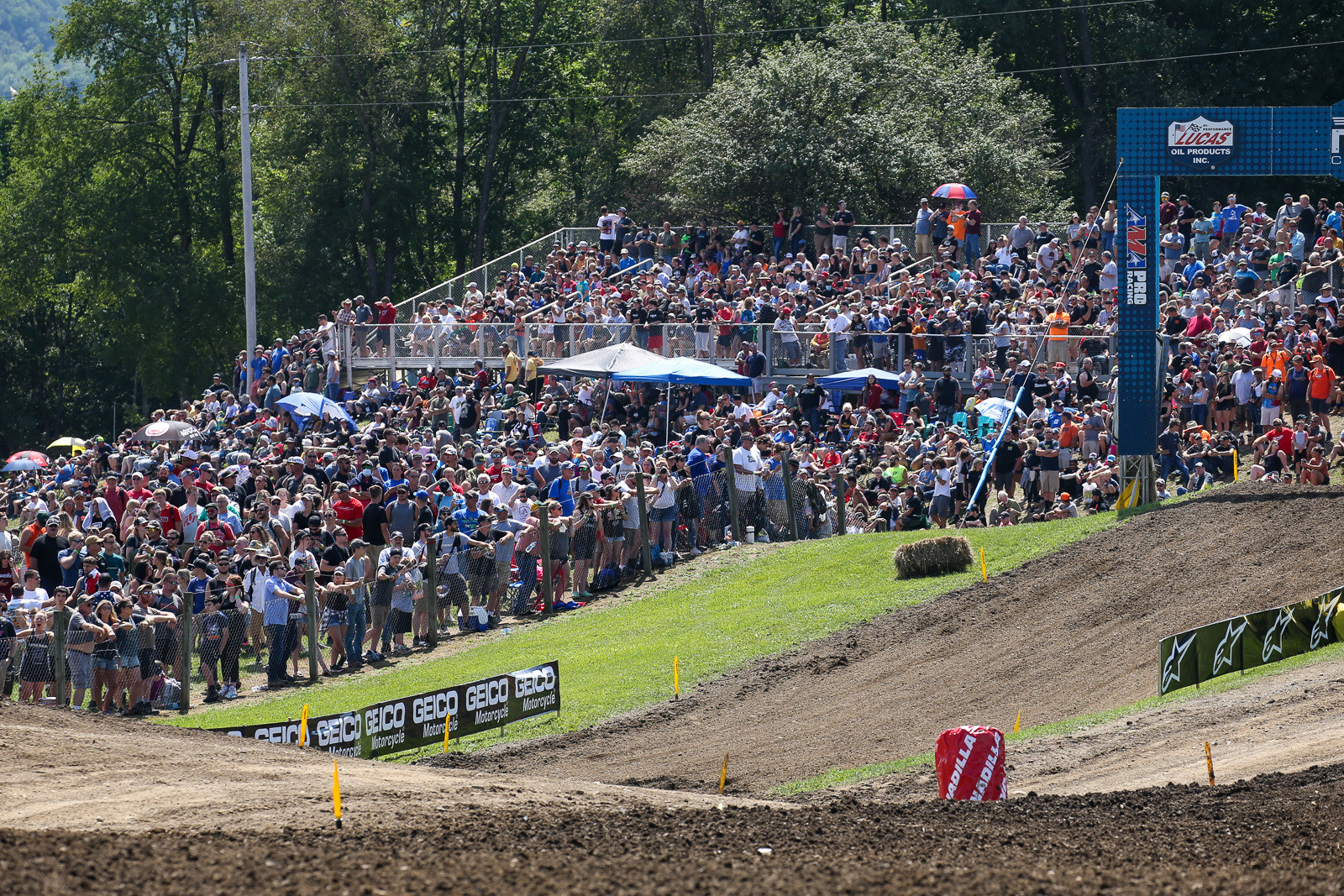 The Unadilla crowd came out strong on Saturday, despite not being able to come in ahead of time.