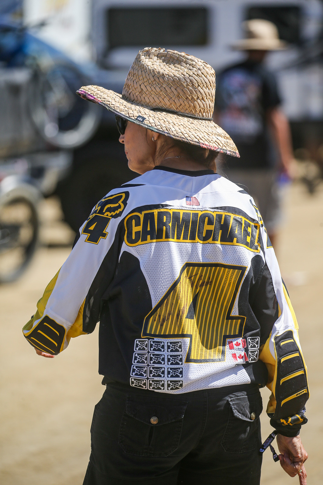 Sure, you've got cool memorabilia in your collection. But do you have an end-of-year autographed Ricky Carmichael jersey that you can whip out of your collection like Carole can?