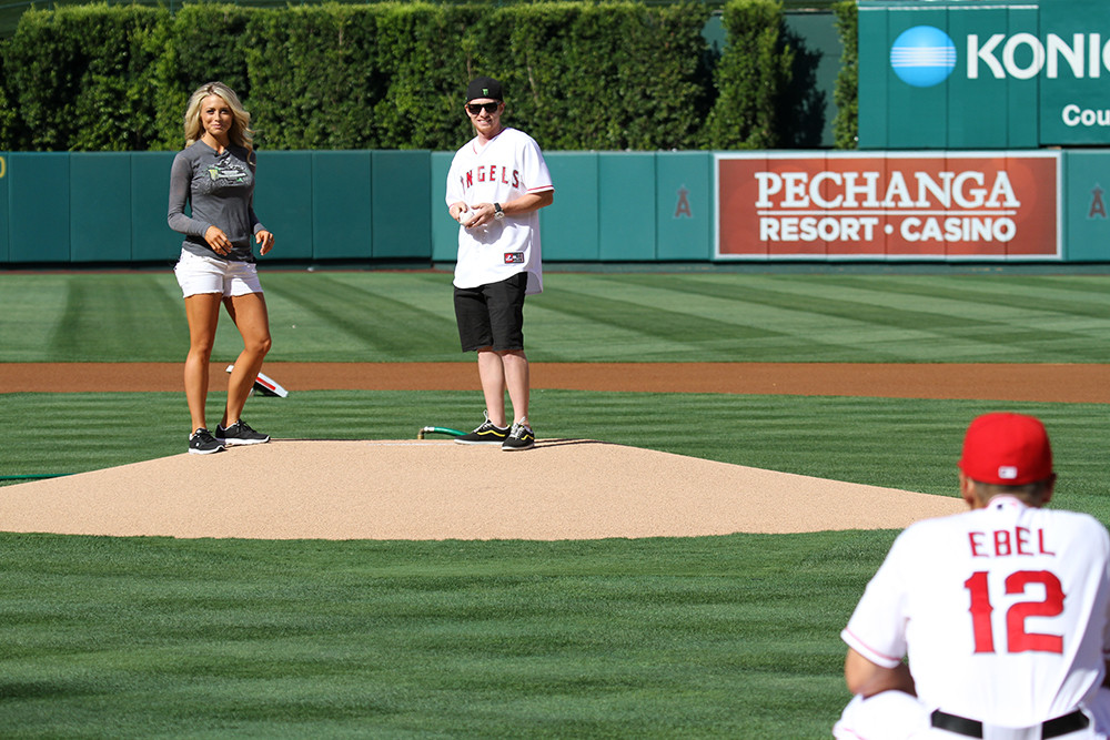 Pitcher's Mound - Villopoto & Miss Supercross at Angels Stadium - Motocross Pictures - Vital MX