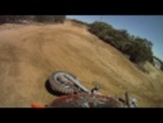 5 Year Old Tristan riding his KTM 50 SX for the 1st time