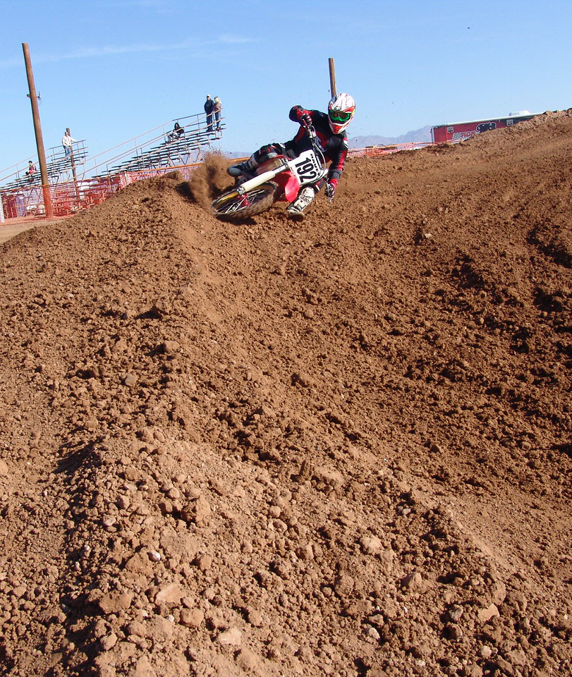 Davey in a corner - FatJproductions - Motocross Pictures - Vital MX