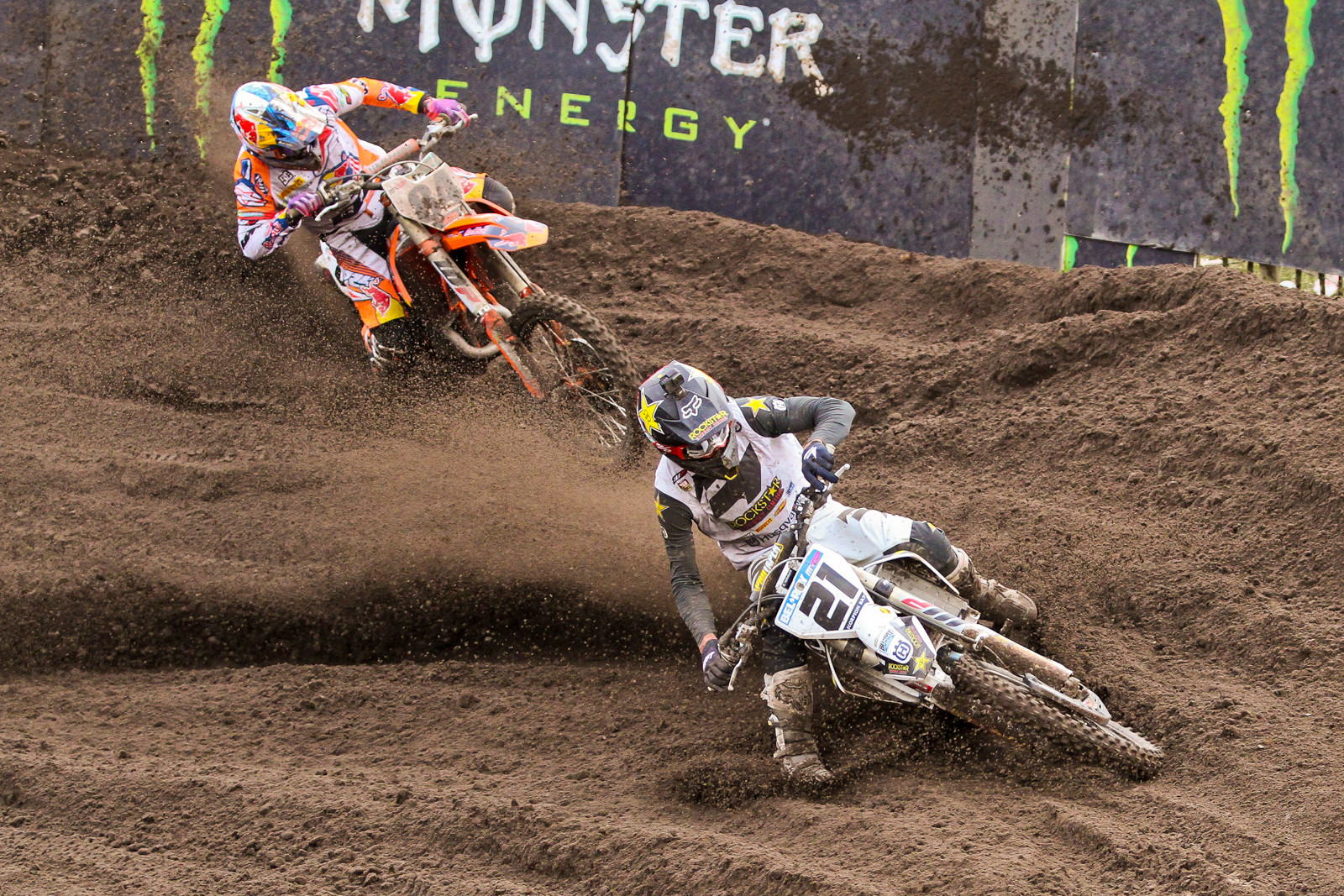 Gautier Paulin / Jeffrey Herlings - Photo Blast: 2017 MXGP of Valkenswaard - Motocross Pictures - Vital MX