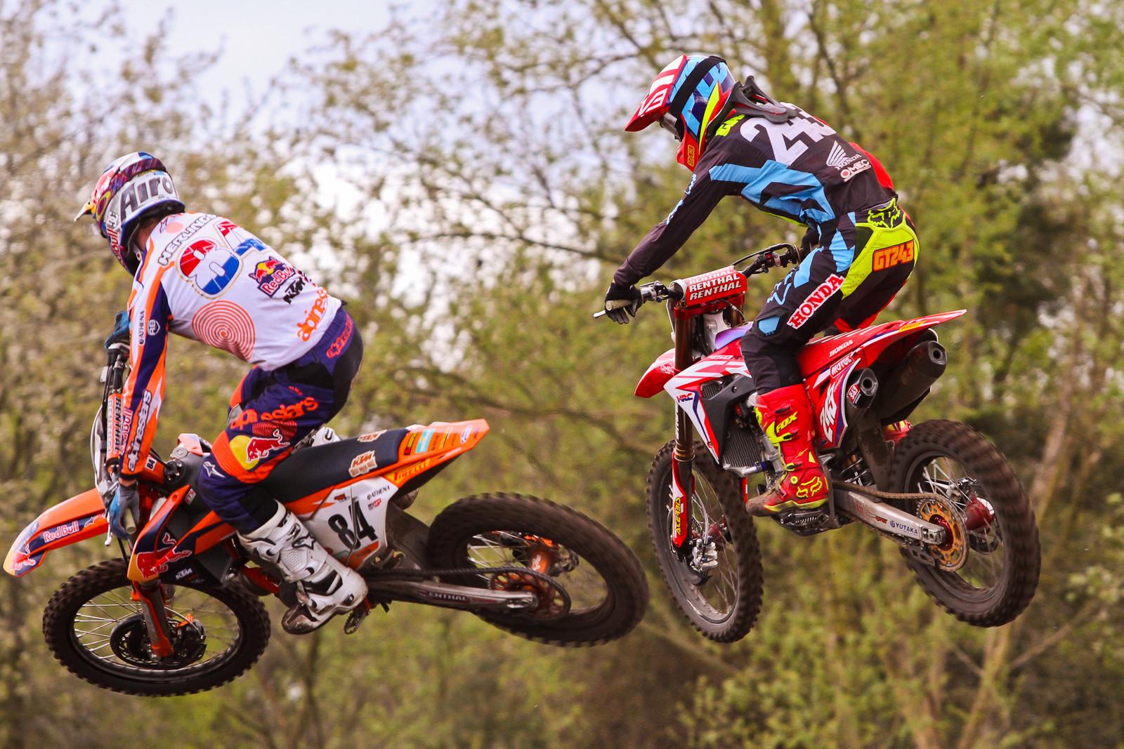 Jeffrey Herlings / Tim Gajser - Photo Blast: 2017 MXGP of Valkenswaard - Motocross Pictures - Vital MX