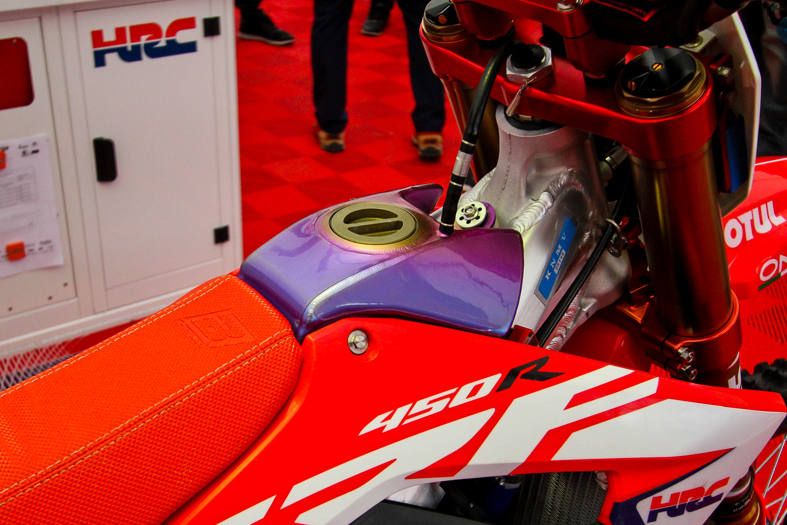 Titanium Fuel Tank and Spring Forks - Vital MX Pit Bits: 2017 MXGP of Valkenswaard - Motocross Pictures - Vital MX