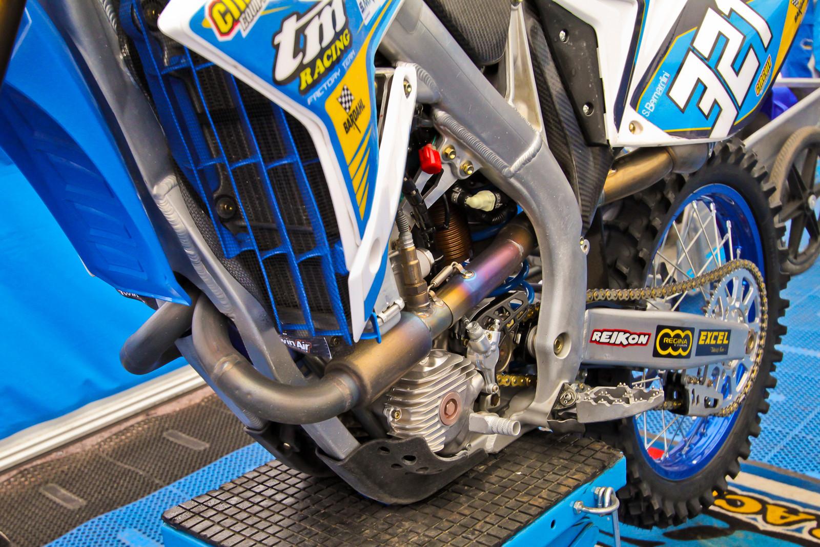 Samuel Bernardini's Factory TM 250 - Vital MX Pit Bits: 2017 MXGP of Valkenswaard - Motocross Pictures - Vital MX