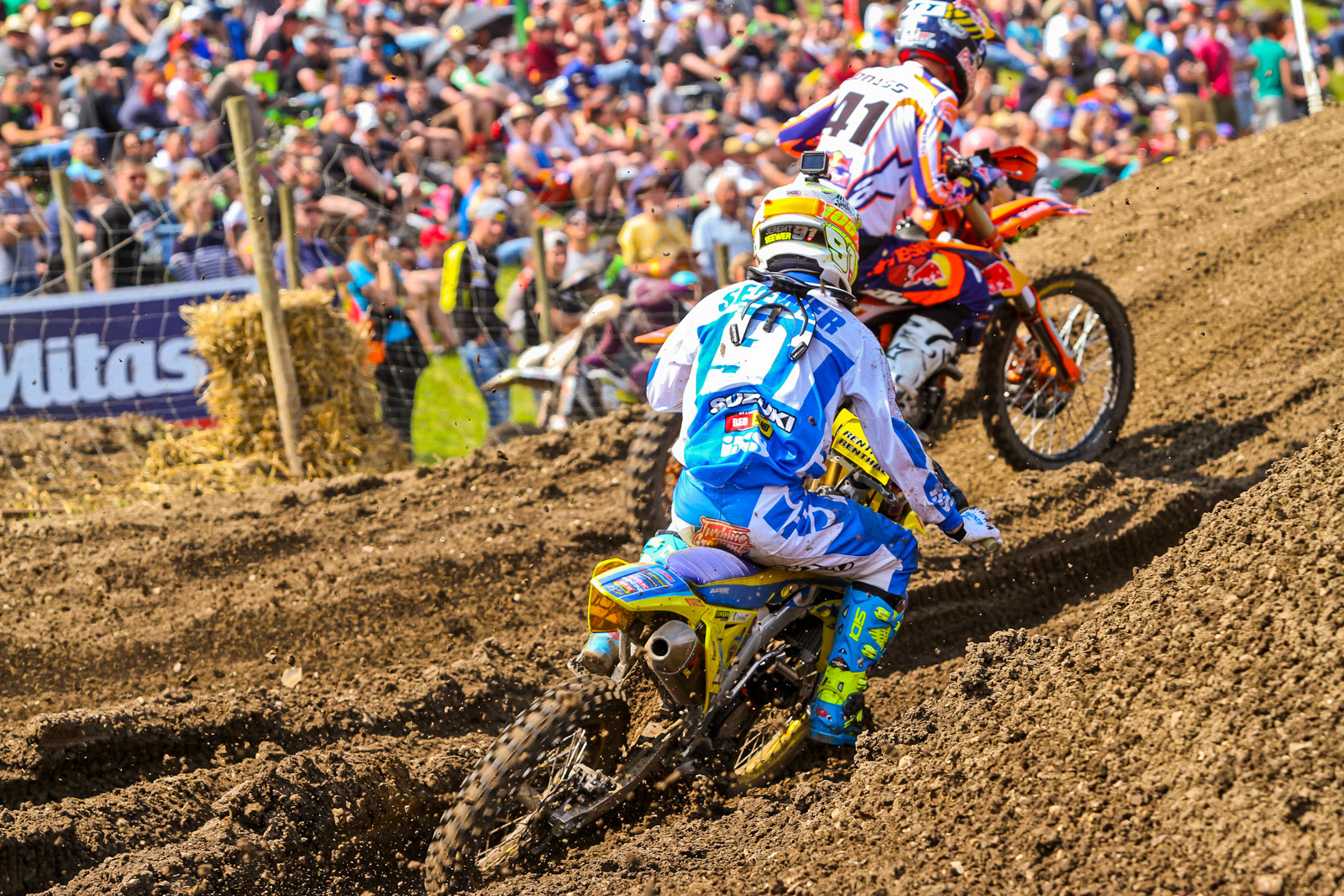 Pauls Jonass and Jeremy Seewer - Photo Blast: 2017 MXGP of Germany - Motocross Pictures - Vital MX