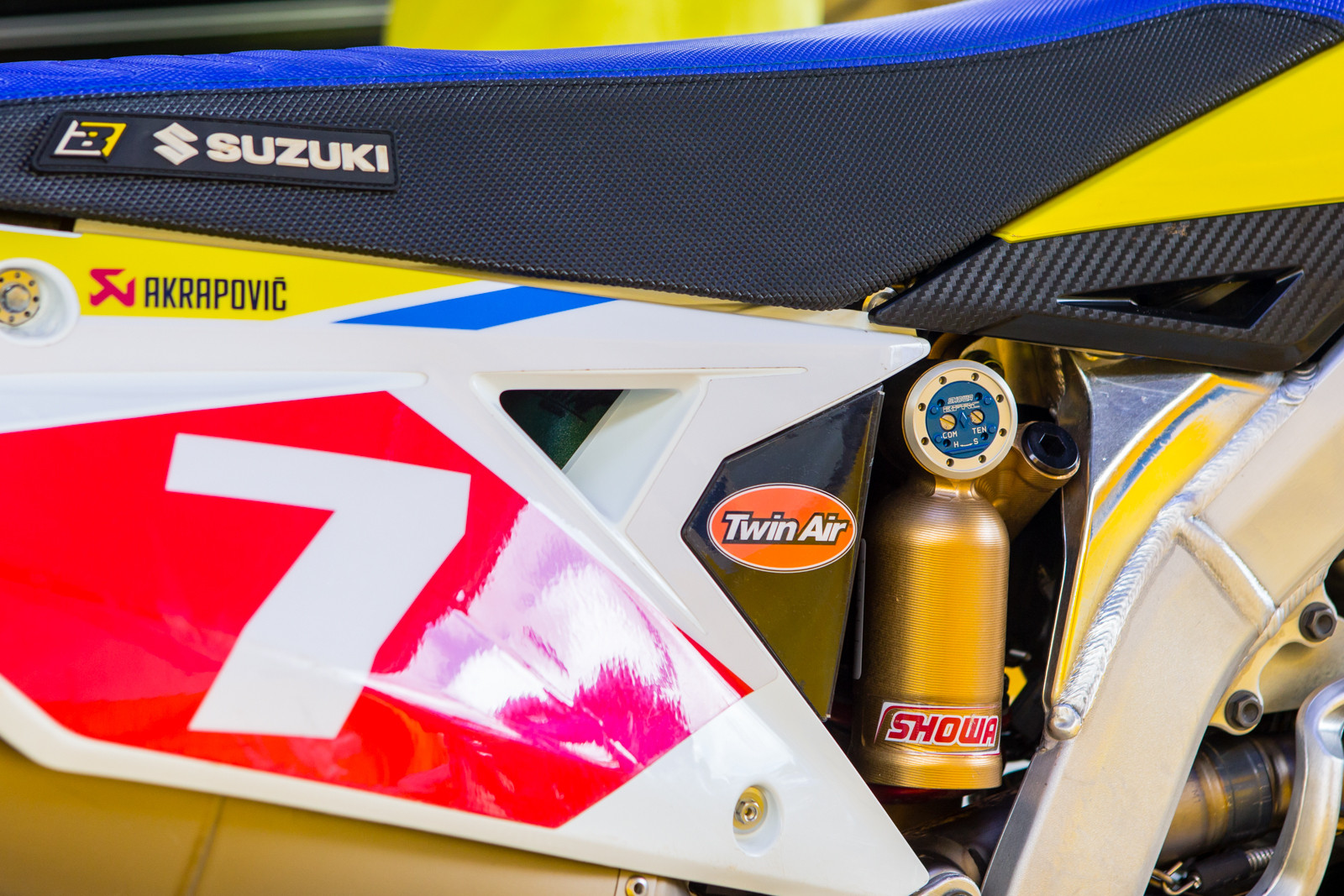 2018 Suzuki RM-Z450WS - Showa BFRC (Balance Free Rear-Cushion) - Vital MX Pit Bits: 2017 Sugo All-Japan National - Motocross Pictures - Vital MX