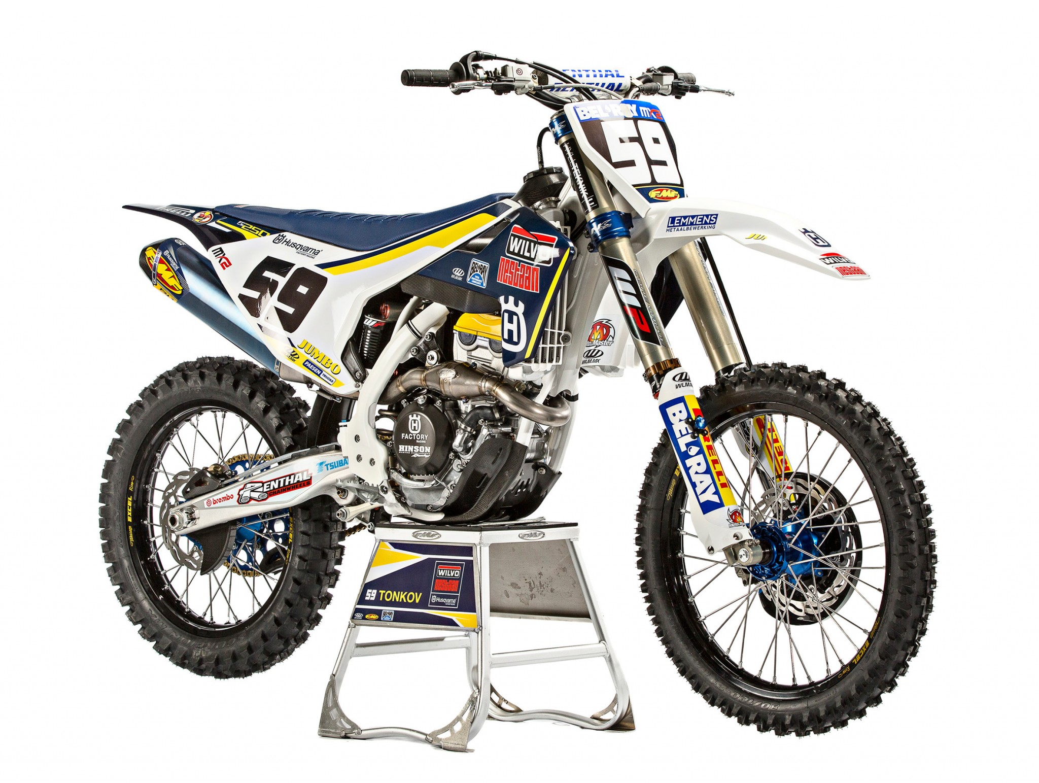 Aleksandr Tonkov's Factory Racing Husqvarna FC250 - First Look: New Husqvarna Factory ...