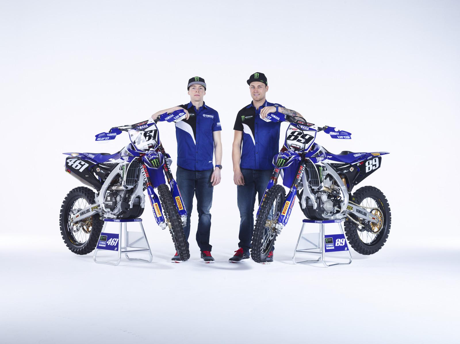 Romain Febvre and Jeremy Van Horebeek - First Look: 2016 Monster Energy Yamaha YZ450FM - Motocross Pictures - Vital MX