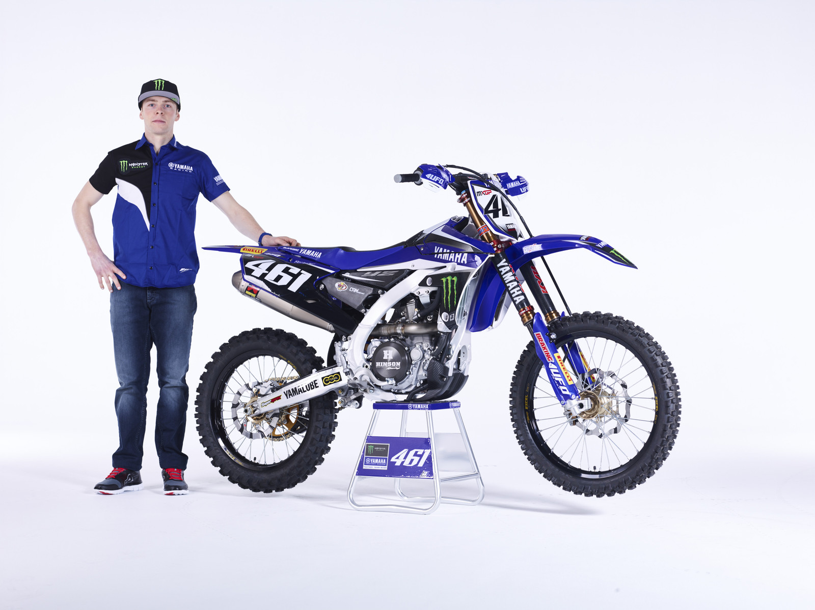 Romain Febvre and his YZ450FM - First Look: 2016 Monster Energy Yamaha YZ450FM - Motocross Pictures - Vital MX