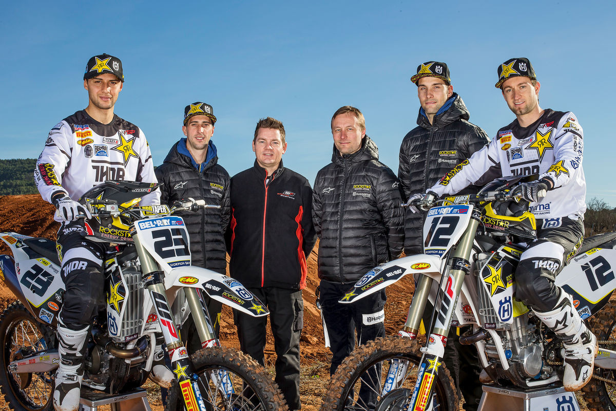 Max Nagl, Christophe Charlier, and Team - First Look: 2016 Rockstar Energy Husqvarna Factory Racing FC 450 - Motocross Pictures - Vital MX