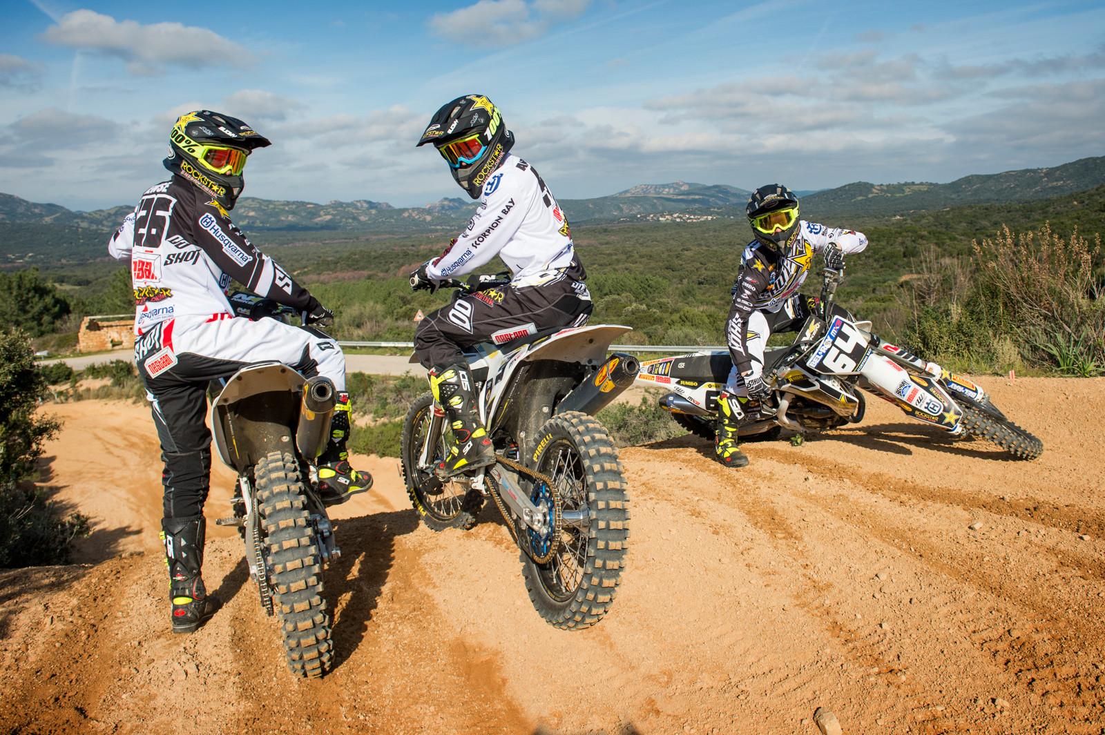 Conrad Mewse, Thomas Covington, and Max Anstie. - First Look: Rockstar Energy Husqvarna Factory Racing MX2 - Motocross Pictures - Vital MX