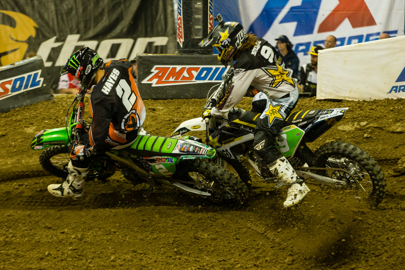 Jacob Hayes and Gared Steinke - Photo Gallery: Ontario Arenacross - Saturday Night - Motocross Pictures - Vital MX