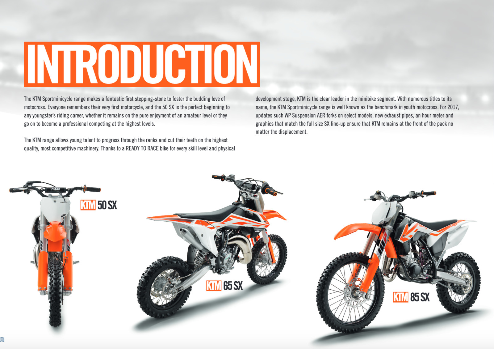 2017 Ktm 50 Sx First Look 65 And 85 Wiring Diagram Mini Model Line Overview