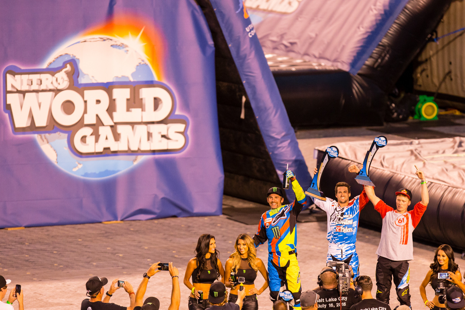 Best Trick Podium - 2016 Nitro World Games: FMX and Best Trick Finals Gallery - Motocross Pictures - Vital MX