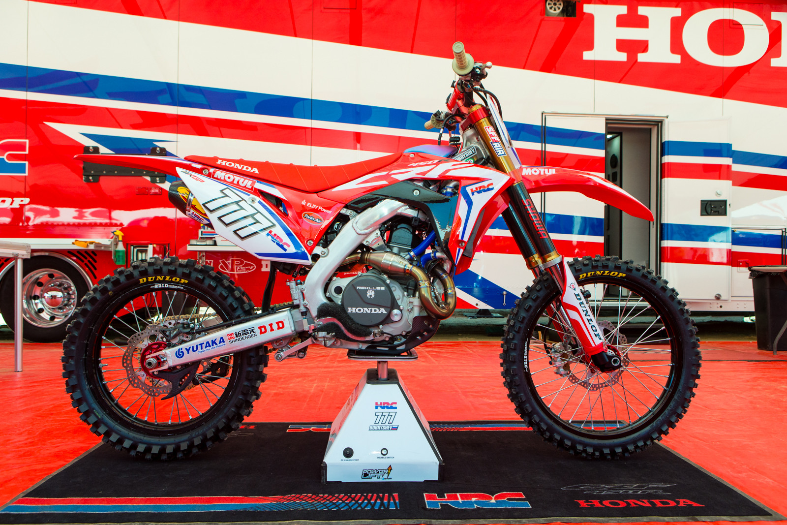 Evgeny Bobryshev's 2017 HRC Honda CRF450RW - Vital MX Pit Bits: 2016 MXGP of USA - Motocross Pictures - Vital MX