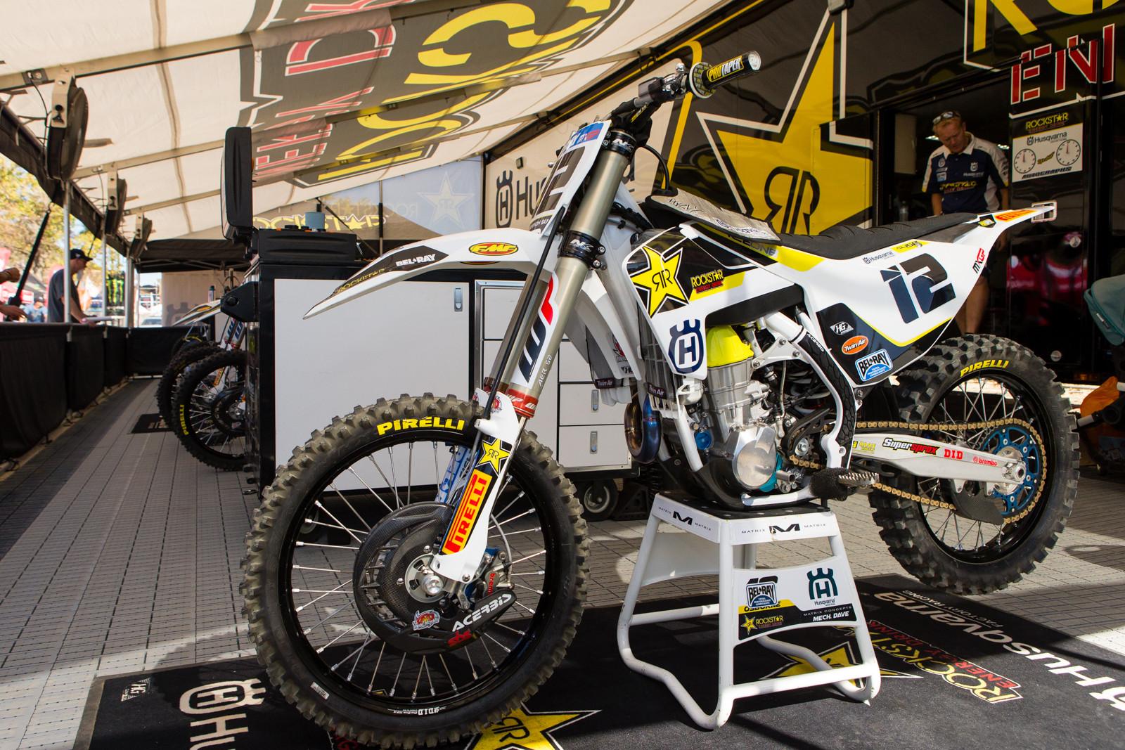 Max Nagl's Rockstar Energy Husqvarna FC 450 - Vital MX Pit Bits: 2016 MXGP of USA - Motocross Pictures - Vital MX
