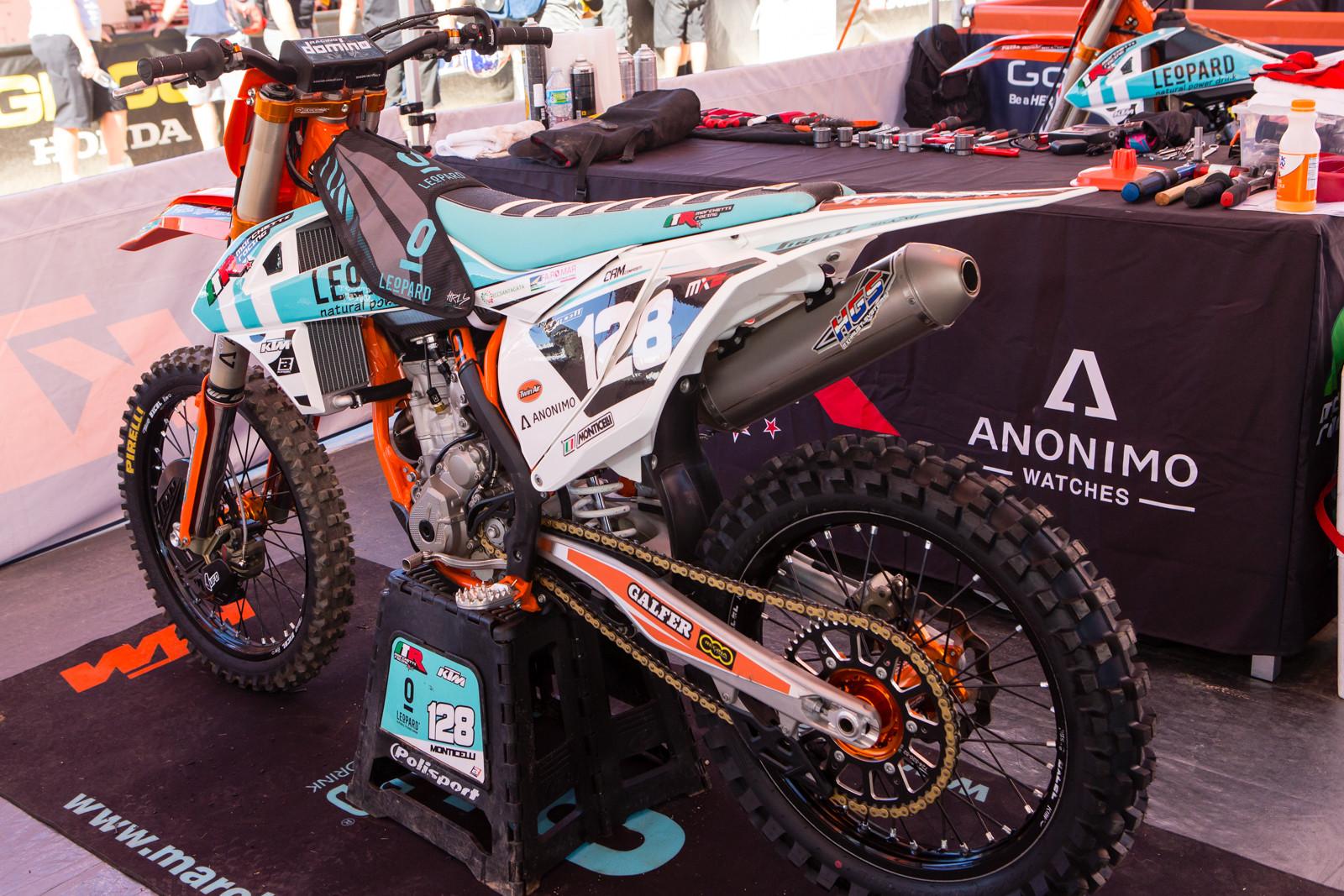 Ivo Monticelli's Leopard/Marchetti Racing KTM 250 X-F - Vital MX Pit Bits: 2016 MXGP of USA - Motocross Pictures - Vital MX