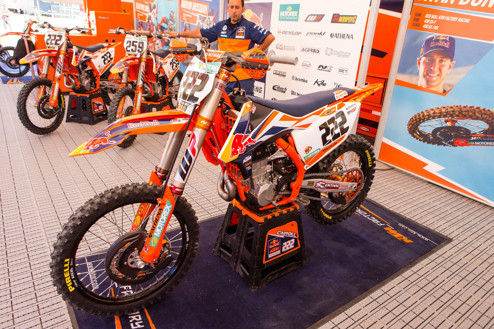 Tony Cairoli's Red Bull KTM 450 SX-F - Vital MX Pit Bits: 2016 MXGP of USA - Motocross Pictures - Vital MX