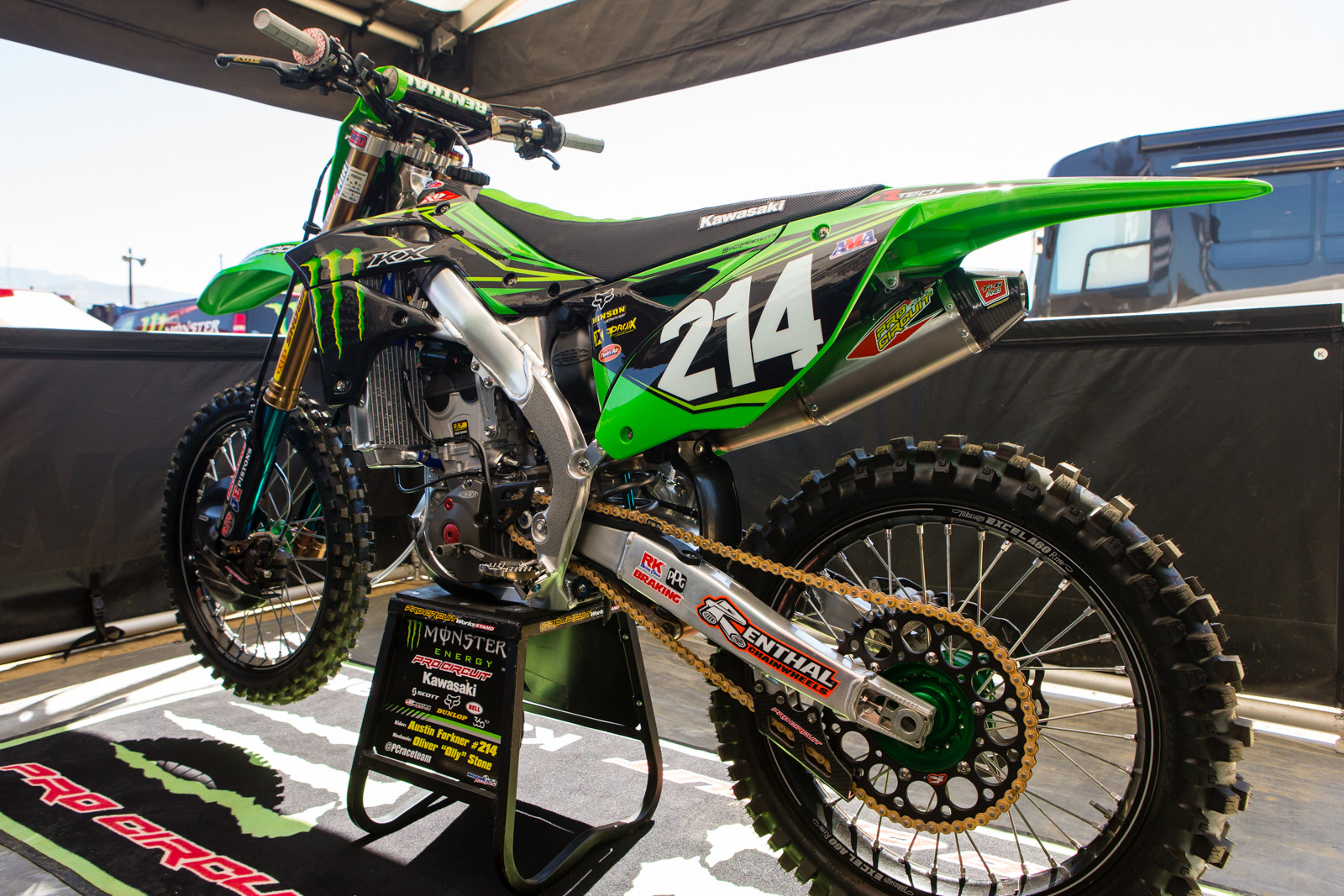 Austin Forkner's Monster Energy/Pro Circuit Kawasaki KX250F - Vital MX Pit Bits: 2016 MXGP of USA - Motocross Pictures - Vital MX