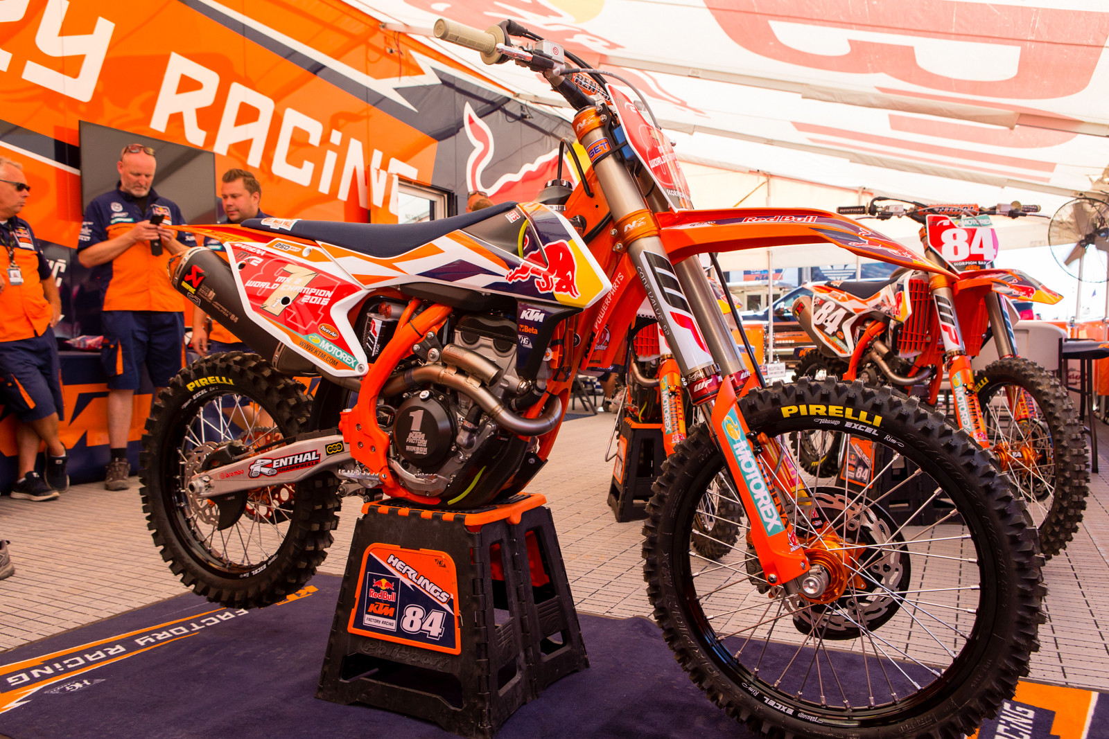Jeffrey Herling's Red Bull KTM 250 SX-F - Vital MX Pit Bits: 2016 MXGP of USA - Motocross Pictures - Vital MX