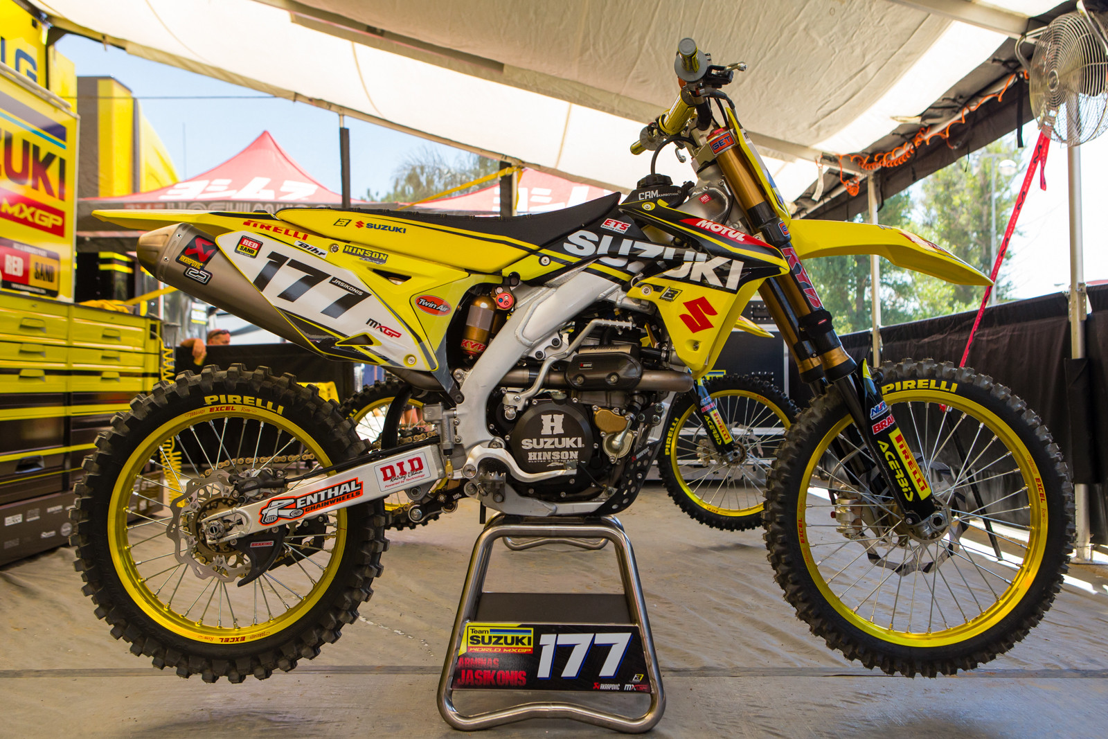Arminas Jasikonis World Suzuki MXGP RM-Z450WS - Vital MX Pit Bits: 2016 MXGP of USA - Motocross Pictures - Vital MX