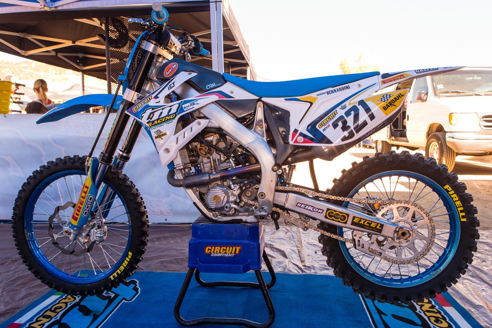 Samuele Bernardini's TM Racing MX 250 FI - Vital MX Pit Bits: 2016 MXGP of USA - Motocross Pictures - Vital MX