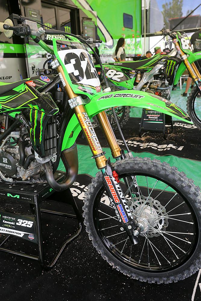 Showa/Pro Circuit Kit Supermini Forks - Vital MX Pit Bits: 2016 Monster Energy Cup - Motocross Pictures - Vital MX