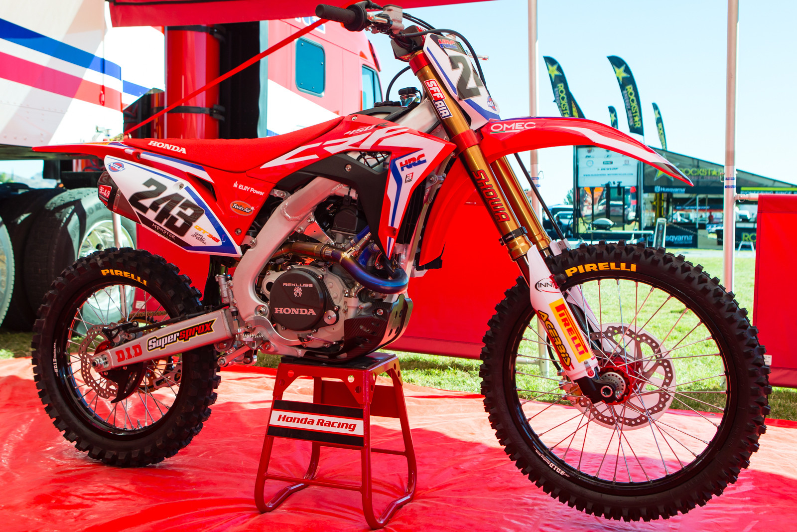 Tim Gajser's HRC Honda CRF450RW - Vital MX Pit Bits: 2016 Monster Energy Cup - Motocross Pictures - Vital MX