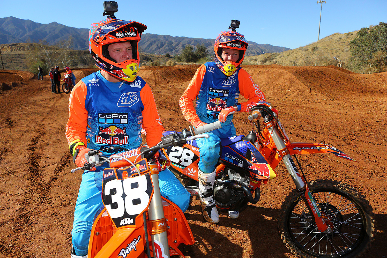 Shane McElrath and Mitchell Oldenburg - 2017 KTM Supercross Factory and Support Team Intro - Motocross Pictures - Vital MX
