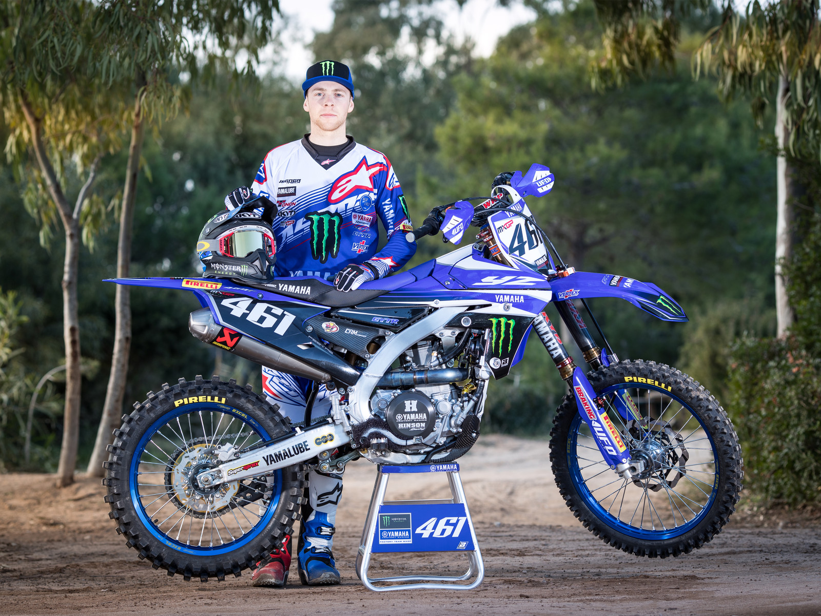 Romain Febvre and his 2017 Monster Energy Yamaha Factory YZ450FM - First Look: 2017 Monster Energy & Wilvo Yamaha MXGP Teams - Motocross Pictures - Vital MX