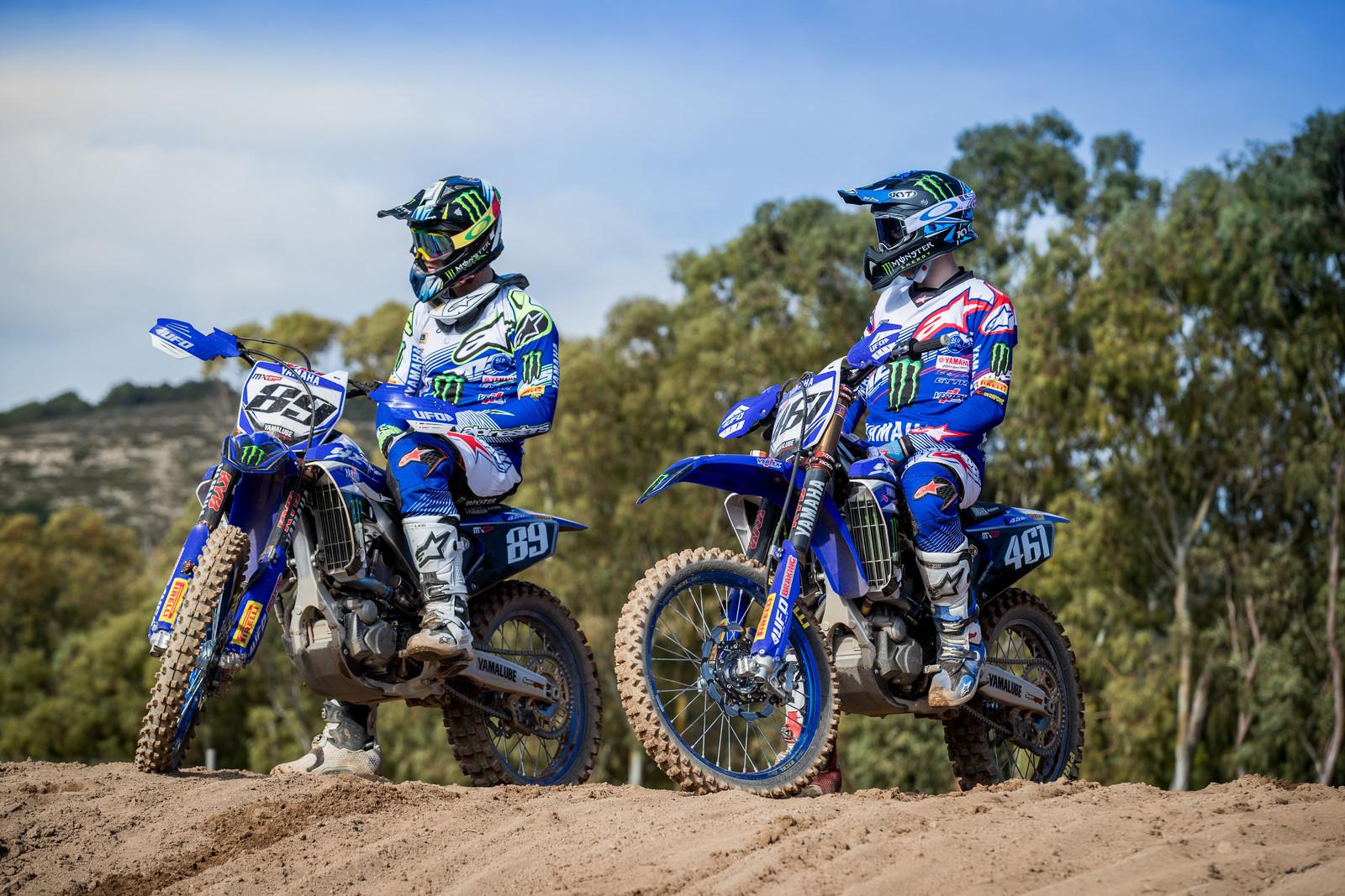 Jeremy Van Horebeek and Romain Febvre - First Look: 2017 Monster Energy & Wilvo Yamaha MXGP Teams - Motocross Pictures - Vital MX