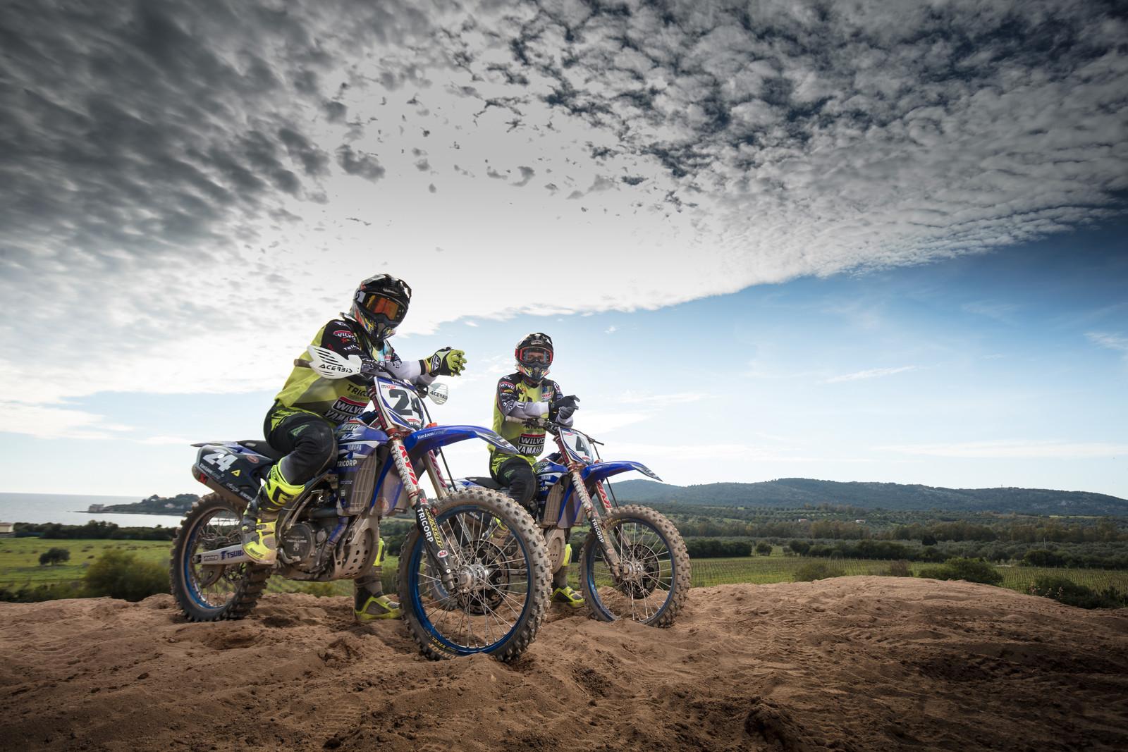 Shaun Simpson and Arnaud Tonus - First Look: 2017 Monster Energy & Wilvo Yamaha MXGP Teams - Motocross Pictures - Vital MX