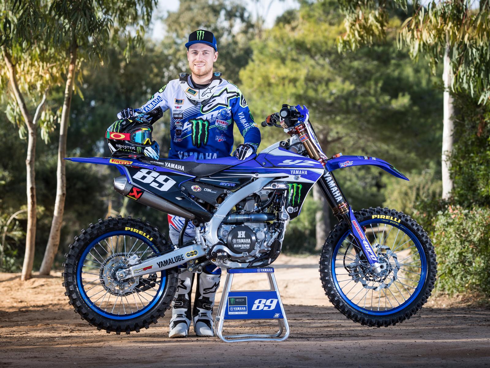 Jeremy van Horebeek and his 2017 Monster Energy Yamaha Factory YZ450FM - First Look: 2017 Monster Energy & Wilvo Yamaha MXGP Teams - Motocross Pictures - Vital MX