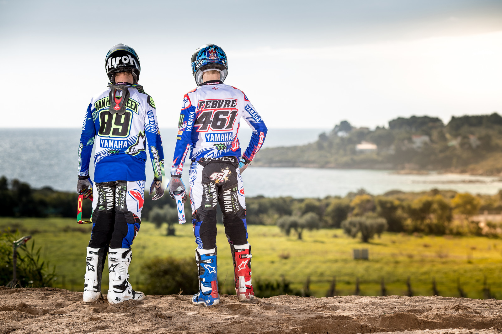 Jeremy Van Horebeek and Romain Febvre - First Look: 2017 Monster Energy & Wilvo Yamaha MXGP Teams - Motocross Pictures - Vital MX