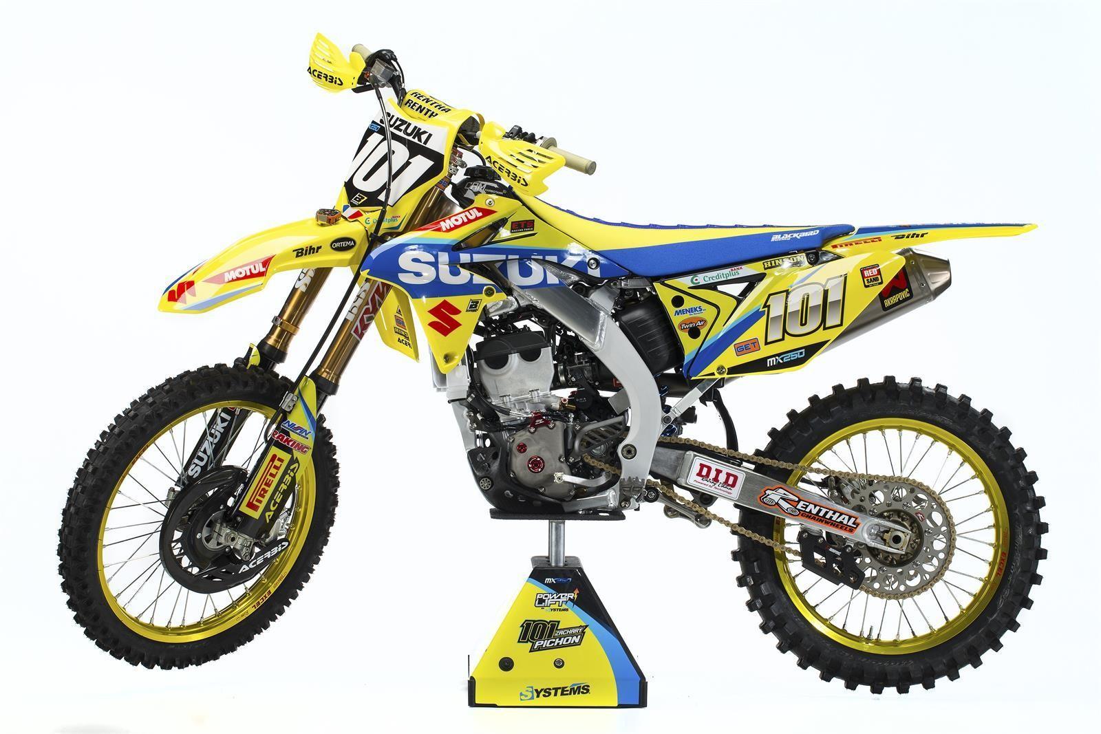 Zachary Pichon's 2017 Suzuki World MX2 RM-Z250 - First Look: 2017 Suzuki World MX2 Team - Motocross Pictures - Vital MX