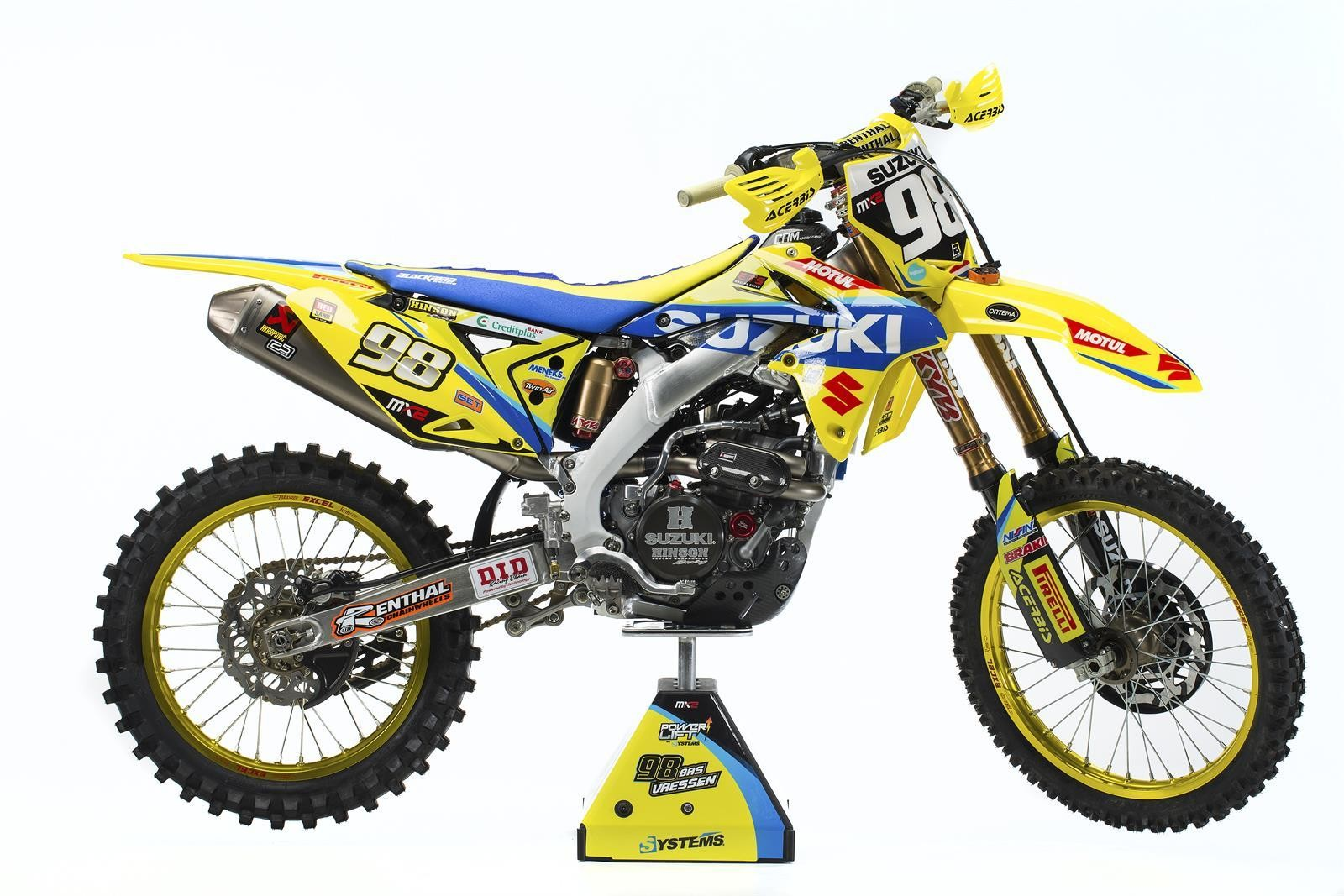 Bas Vaessen's 2017 Suzuki World MX2 RM-Z250 - First Look: 2017 Suzuki World MX2 Team - Motocross Pictures - Vital MX
