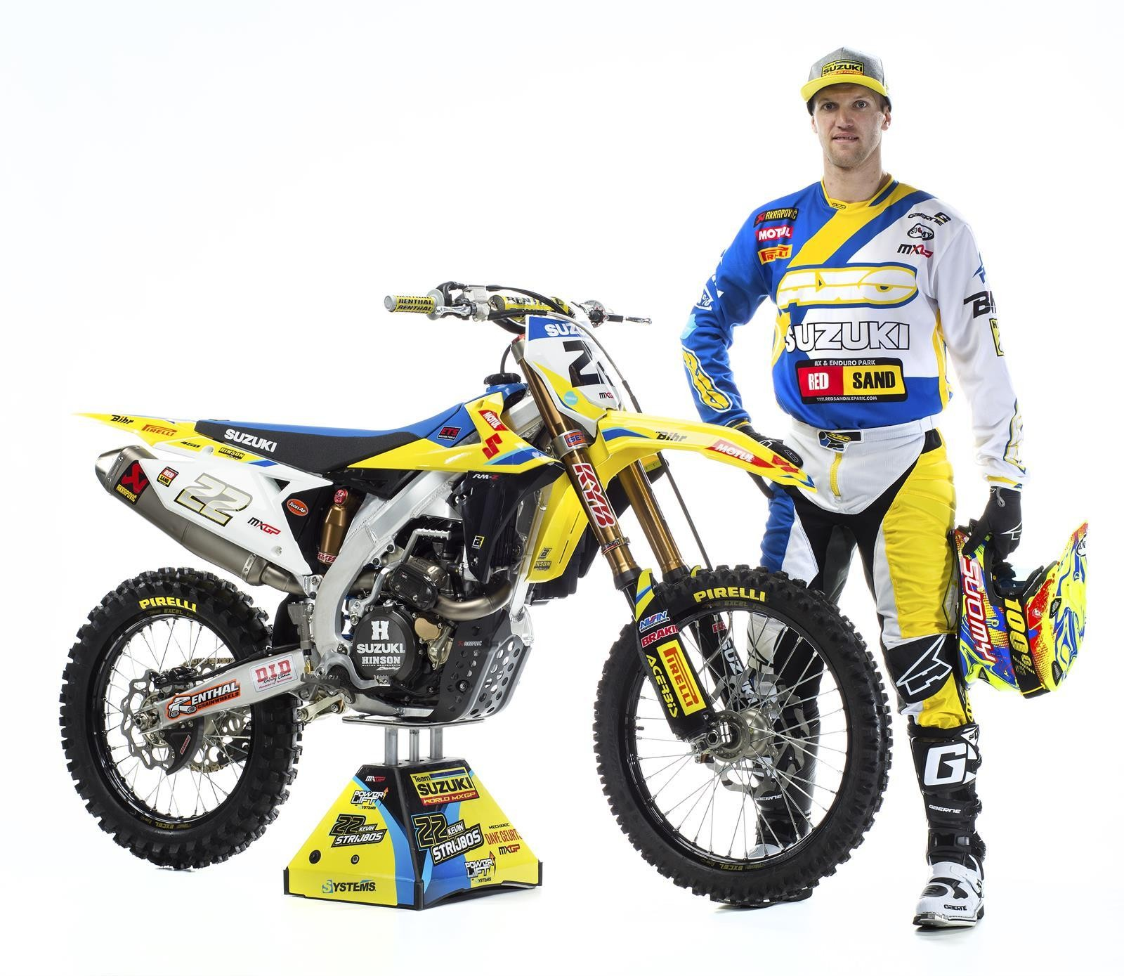 Kevin Strijbos and his 2018 Suzuki World MXGP RM-Z450WS - First Look: 2017 Suzuki World MXGP Team - Motocross Pictures - Vital MX