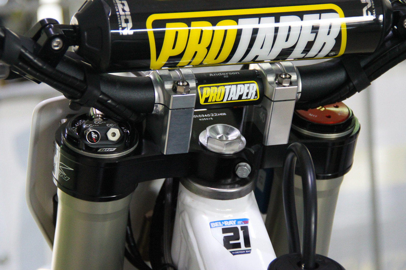 WP Air Forks - Vital MX Pit Bits: 2017 MXGP of Qatar - Motocross Pictures - Vital MX