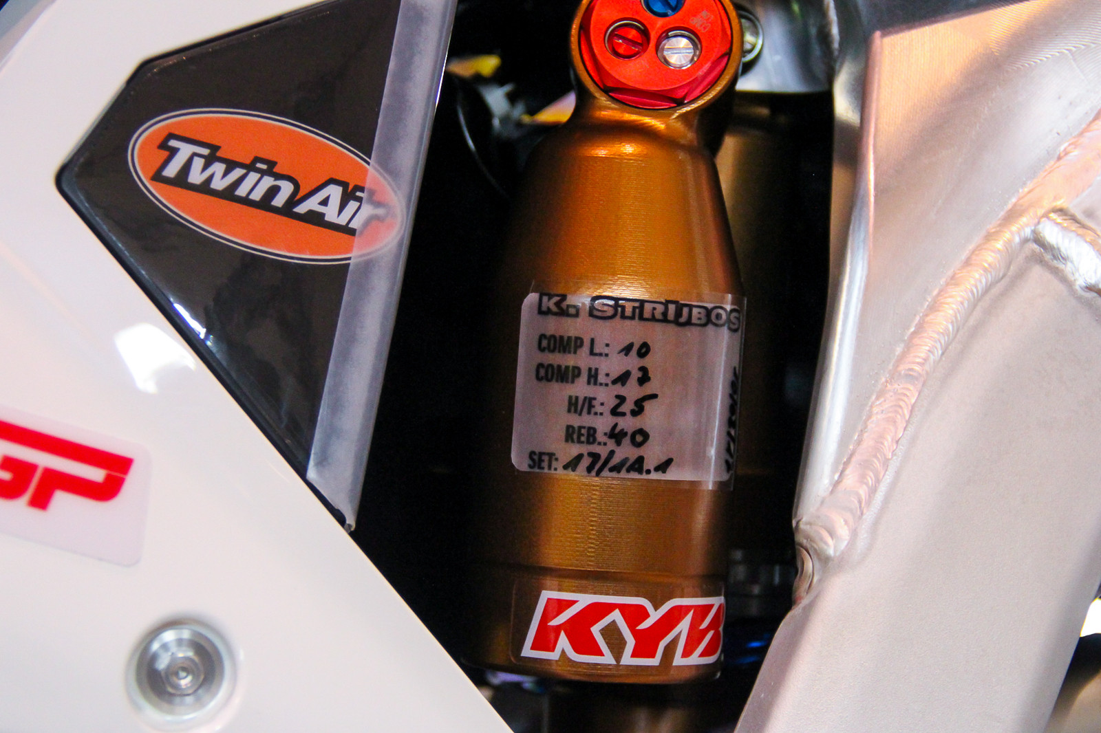Works KYB Shock - Vital MX Pit Bits: 2017 MXGP of Qatar - Motocross Pictures - Vital MX