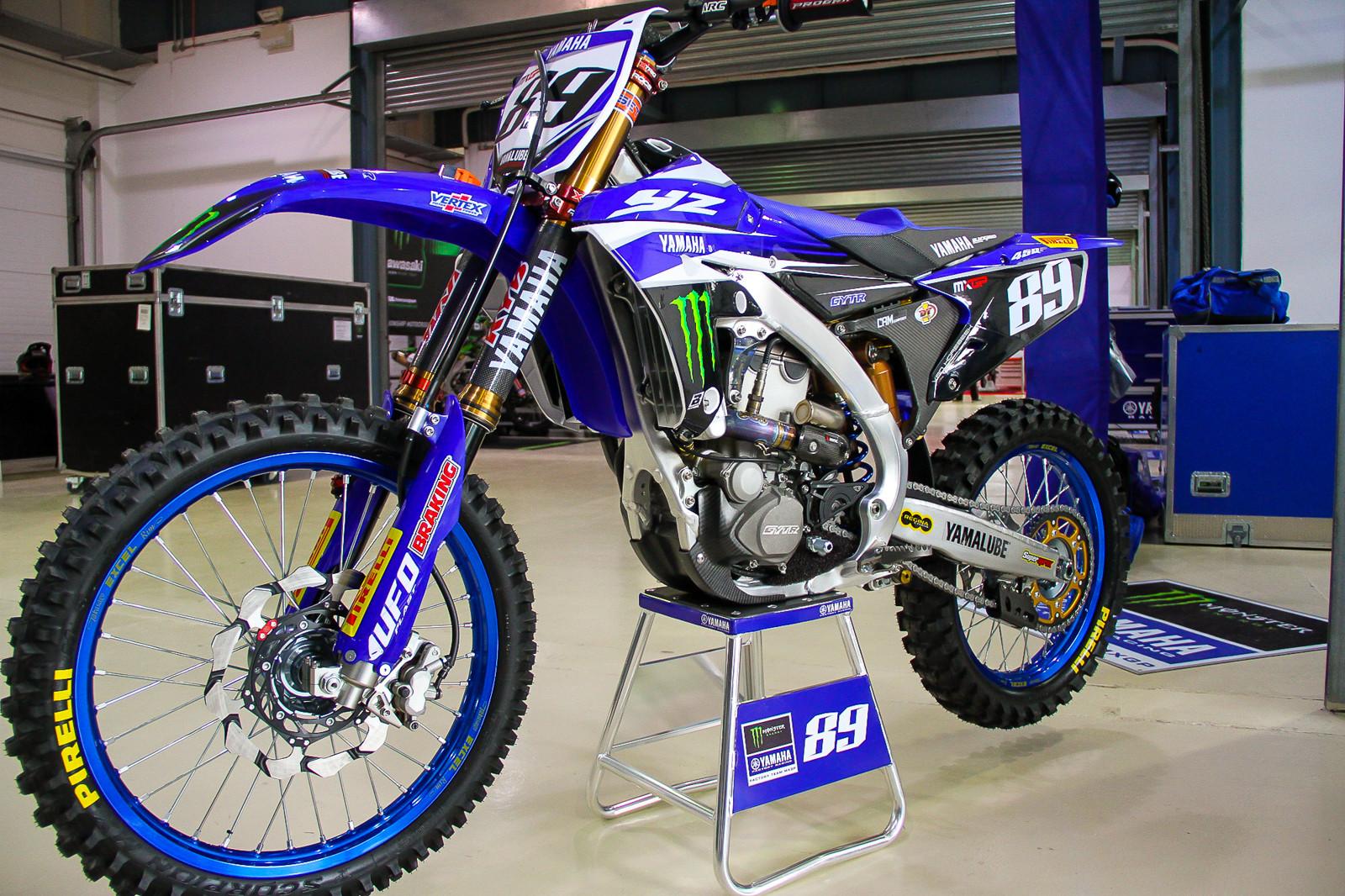 Jeremy Van Horebeek's Monster Energy Yamaha Rinaldi YZ450F - Vital MX Pit Bits: 2017 MXGP of Qatar - Motocross Pictures - Vital MX